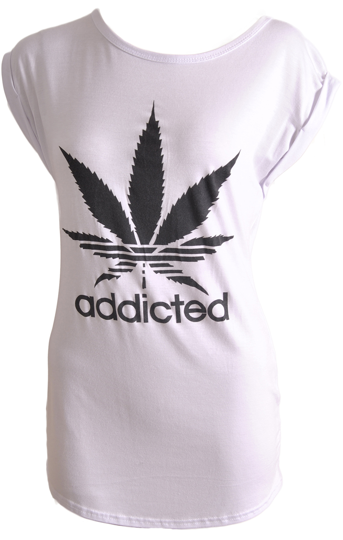 Addicted Cannabis Adidas Spoof T Shirt